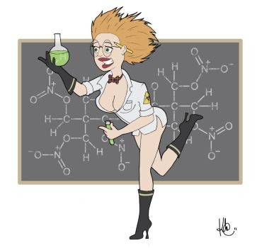 Pin-Up Mad Scientist by KilowattKatie