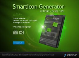 Smarticon 3d Icon Generator - Photoshop Panel CS5+ by templay-team