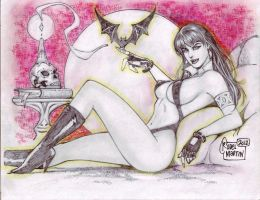 Vampirella (#1A) (PARTIAL COLOR) by Rodel Martin by VMIFerrari