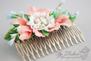 Comb hair in the style of Shabby chic by polyflowers