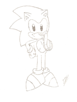 Classic Sonic by FritzyBeat