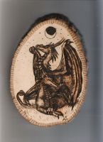 Night Dragons on Wood by IvoryDraco