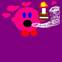 KIRBY LOVES CAKE by Bluedragon85