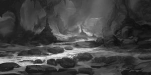 Cave value sketch by RavenseyeTravisLacey