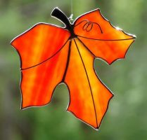 Falling Maple Leaf by TheGlassMenagerie