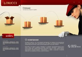 Loricci site by abeer by designerscouch