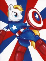 Captain America Pony by bandotaku