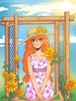 Summer Sunflowers by Yumeimi