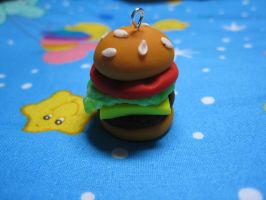 Cheeseburger with Tomato Charm by skookyspry
