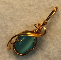 Catseye Blue Pendant by skezzcrom