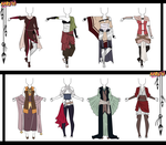 Naruto Adoptable Outfit Set 17 - Closed by Orangenbluete