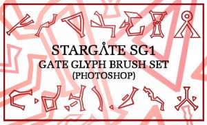SG1 Glyphs Photoshop Brush Set by maerad-of-pellinor