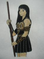 Xena and Her Stick by CaptainJenna
