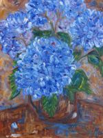 A blue hortensia by MC-blue