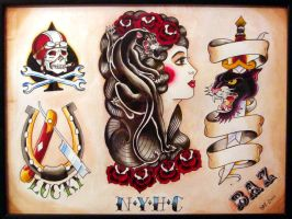 Tattoo Flash by Baz66