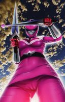 Jen Scotts Pink Time Force Ranger 1-? (Commission) by AngeroX