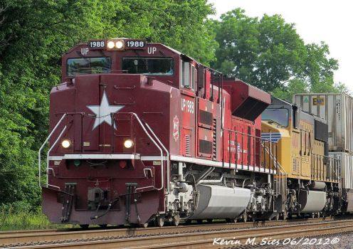 The Katy Unit UP SD70ACe 1988 on KOAMN 12 by EternalFlame1891