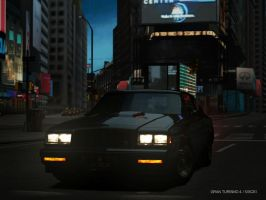 Gran Turismo 4 Buick GNX at times square front by Chernandez2020