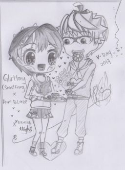 Boboiboy: Gluttony and fem!Blaze by Xierally