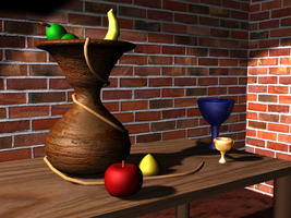 Still Life in 3D by jetbunny