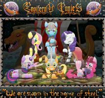 Ponies as Ensiferum Warriors by Lactopi