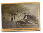 Vintage Postcard Thunderchild War of the Worlds by yereverluvinuncleber