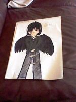 My Drawing Of Diaval With His Raven Wings by ZeldaLuv2014