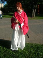 Me in Kenshin cosplay by Kitsune-Sab