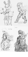 wakfu.sketch dump. by silveyn