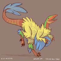 PKMN #561 - Archeops by kittehmeow