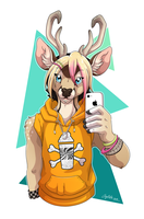 Phone selfie by Cayleth