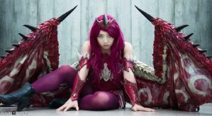 Pink Rathian Gijinka Cosplay 2 by Sea of Rabbitz by seaofrabbitz