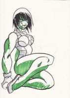 She-Hulk quick sketch by NachoMon