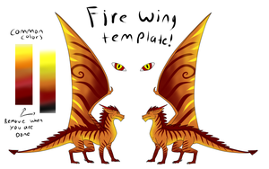 Free to use Fire Wing template by CrystalCircle