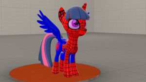 [WIP] Twilight Sparkle as Spider-Mare by FictionaryMan03895