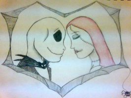 Jack and Sally by artwolf711