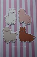 llama magnets by resubee