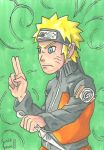 Naruto Sketch Card by IsaiahBroussard
