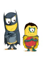 Batminion and Robin by Notaryo