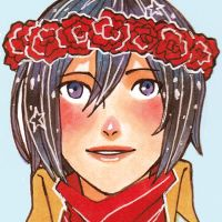 Mikasa in a Flower Crown by Jazzie560
