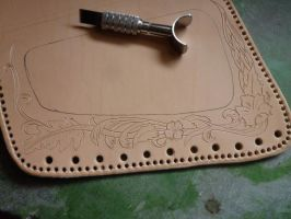 Leather Cheek-Pad - WIP02 by Bear-Crafter