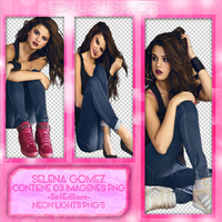 Selena Gomez Pack PNG - NeonLightsPNG'S by SoffMalik