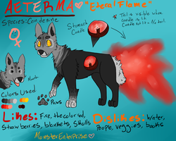Aeterma Ref Sheet by MonsterMeds