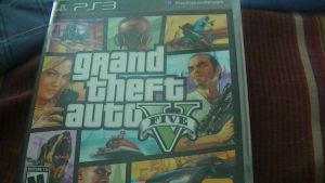 My Picture of my GTA V game case! XD :D by SuperSayian5Naruto