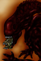 Red Alien Warrior by GRIDALIEN by Drakhand006