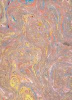 paper marbling 5 by Lunem