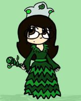 Mollie in a Grass Land dress by KookyShyGirl88