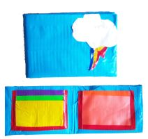 Rainbow Dash Duct Tape Wallet by LishaChan
