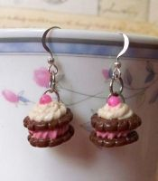 Raspberry Tart Earrings by Cuddlebugeeshi