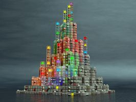 Cube Island by jleoc